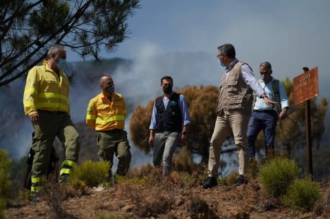Salado en el incendio de Sierra Bermeja